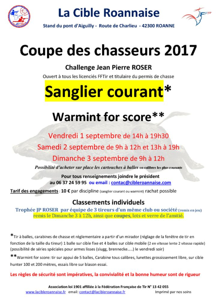 thumbnail of affiche coupe des chasseures 2017