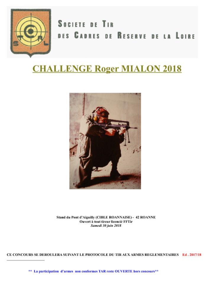 thumbnail of Challenge Roger MIALON 2018