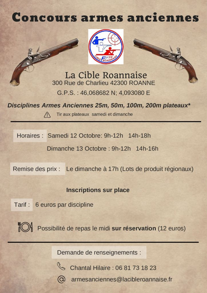 thumbnail of Affiche Concours Armes Anciennes 2019