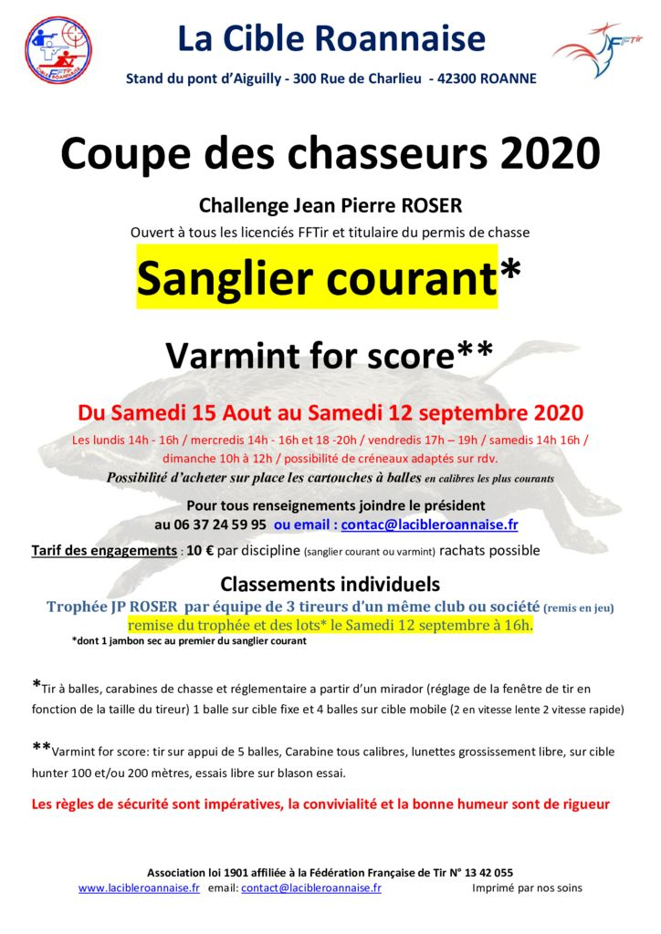 thumbnail of affiche coupe des chasseures 2020